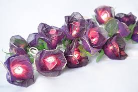 Flower String Lights by Amazon Com Purple Rose Flower Lights For Bedroom And Wedding