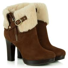 womens ugg chelsea boots ugg australia chestnut suede shearling ankle boot