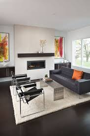 modern living room with abstract wall arts and black wassily