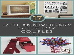 wedding anniversary gift ideas for him 35 12th wedding anniversary gift ideas for him