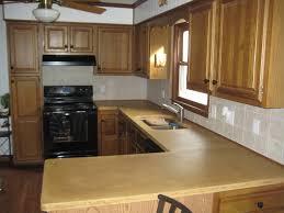 countertops dark brown cabinet and black tile backsplash modern