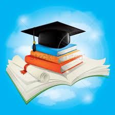 graduation books graduation cap and scroll with books vector image 1533781