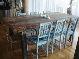 distressed kitchen table and chairs stunning rustic dining room decoration using rustic rectangular