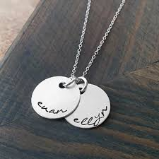 Kids Names Necklace Personalized Necklace With Kids Names Gracefully Made