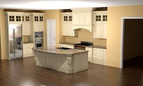 Kitchen Molding Ideas by Glazed Kitchen With Large Island Corbels And Custom Hood