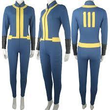 Halloween Jumpsuit Costumes Video Game Fallout 4 Sole Survivor Nora Jumpsuit Halloween