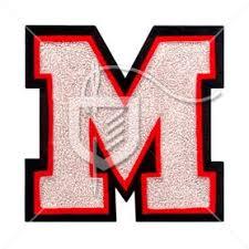letter m chenille felt patch