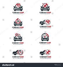 car service logo car service logo set vehicle repair stock vector 407734417