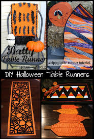 6 halloween table runner tutorials peek a boo pages sew