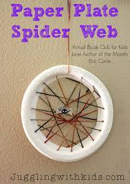 juggling with kids paper plate spider web virtual book club for