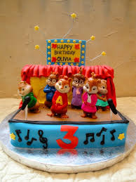 alvin and the chipmunks cake toppers alvin and the chipmunks with the chippettes cakecentral