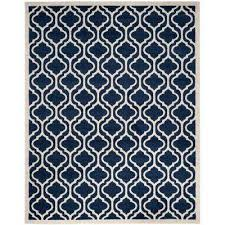 Navy And White Outdoor Rug Trellis 8 X 10 Blue Outdoor Rugs Rugs The Home Depot