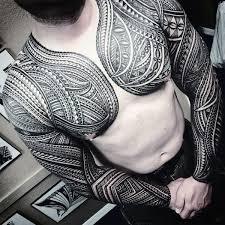 50 polynesian chest designs for tribal ideas chest