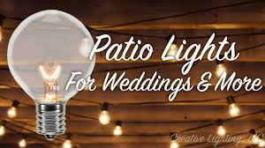 Patio Light Patio Lights For Weddings More