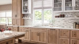 quarter sawn oak shaker kitchen cabinets schuler cabinetry at lowes new finish cappuchino