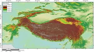 Tibetan Plateau Map File Demtibet Png Wikimedia Commons