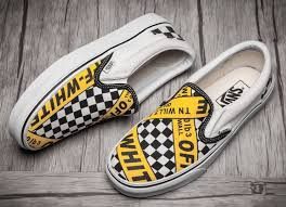 amac custom vans shop amac customs white x vans caution slip on skateboard