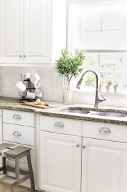 how to do a kitchen backsplash diy pressed tin kitchen backsplash bless er house