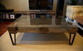 Glass Table Legs Extraordinary Industrial Glass Coffee Table U2013 Industrial Metal And