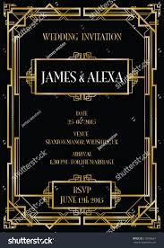 Art Deco Wedding Gatsby Art Deco Wedding Invite Background Stock Vector 210766567
