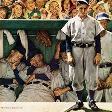 marmont hill the dugout by norman rockwell painting print on