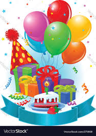 birthday decorations birthday decorations royalty free vector image