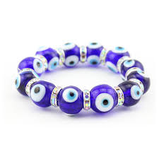 evil eye beaded bracelet images Turkish glass blue evil eye beads bracelet dark blue color lucky jpg