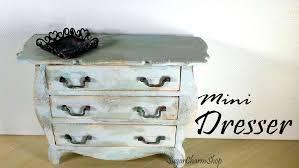How To Make Dolls House Furniture Miniature Furniture Vintage Dresser Tutorial Dolls Dollhouse
