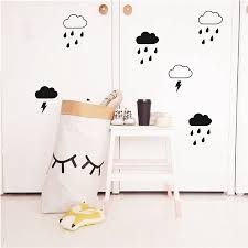 aliexpress com buy cloud with rain wall decals lightning aliexpress com buy cloud with rain wall decals lightning raindrop cloud wall stickers modern kids room cute wall decor from reliable cloud wall stickers