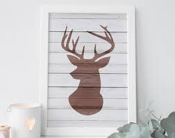 deer wood wall deer wall etsy