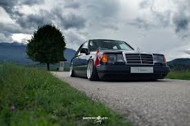 bagged mercedes e class mario mercedes benz w124 300e