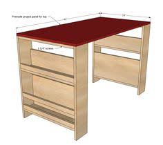 child desk plans free diy easy home office or child s desk diagrams plans building plans