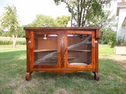 old sideboard turned into a iguana cage for my son recycle