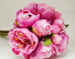artificial peonies peony bouquet white ivory peony bouquet high