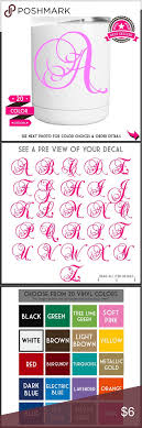 monogram letter stickers yeti decal monogram letter sticker get 2nd free custom decal
