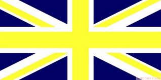 German British Flag Union Jack Blue U0026 Yellow 8 X 5 Flag