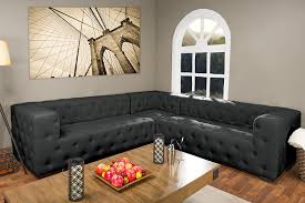 living room interesting grey leather sectional for modern living