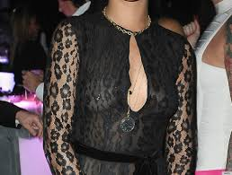 with nipple rings images Rihanna shows off nipple ring in sheer dress on new year 39 s photos jpg
