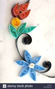 quilling designs flowers handicraft paper quilling designs stock photo 62112345 alamy