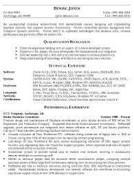 Linux Administrator Resume 1 Year Experience Database Administration Sample Resume 10 Database Administrator