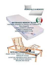 materasso memory silver offerta rete elettrica motorizzata con materasso in memory aloe vera