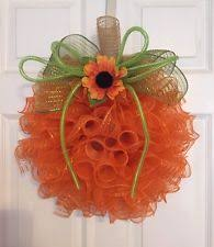 sunflower mesh wreath fall wreath ebay
