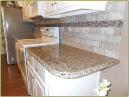 Granite Countertop Tiles Venetian Gold Granite Countertops And Tile Backsplash Kitchen