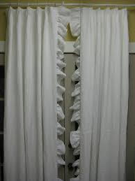 White Ruffle Curtains Decorations White Ruffle Curtain Design For Simple Interior