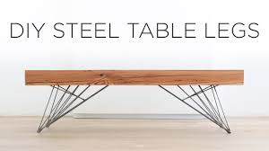 Coffee Tables Legs Diy Steel Table Legs How To Weld Hair Pin Style Legs