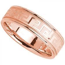 mens wedding bands gold key 14k gold mens wedding band 6mm gold