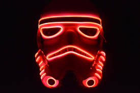 Star Wars Stormtrooper Red El Wire Glow Mask Halloween Mask