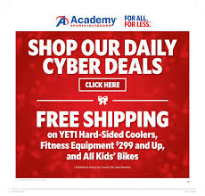 academy sports outdoors cyber monday 2017 ads deals and sales