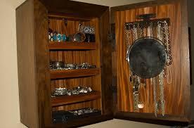 jewelry box wall mounted cabinet wall mount jewelry box with secret storage stashvault