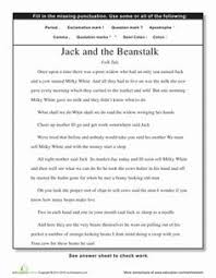 website with tons of free punctuation worksheets useful learning
